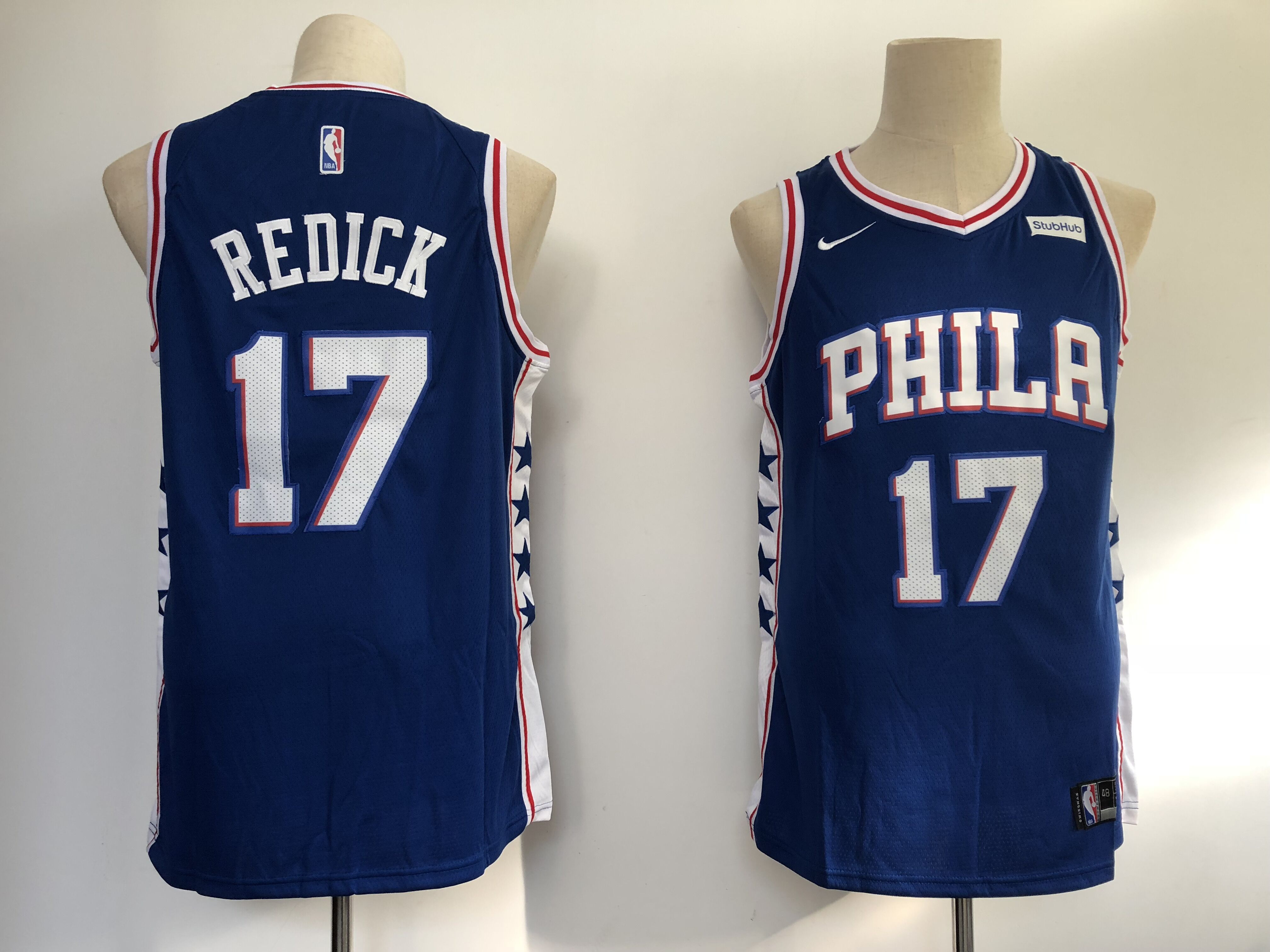 Men Philadelphia 76ers 17 Redick blue Game Nike NBA Jerseys