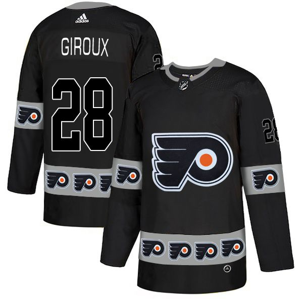 Men Philadelphia Flyers 28 Giroux Black Adidas Fashion NHL Jersey