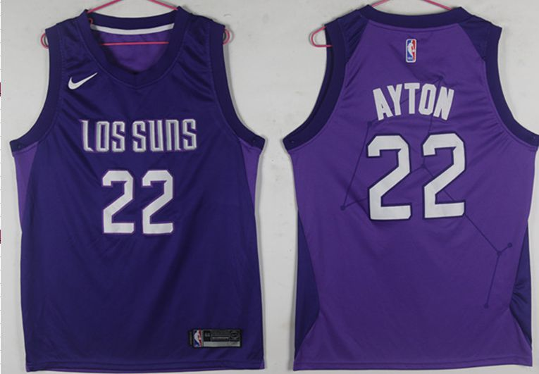 best service 95074 4218f Men Phoenix Suns 22 Ayton Purple Game Nike NBA Jerseys