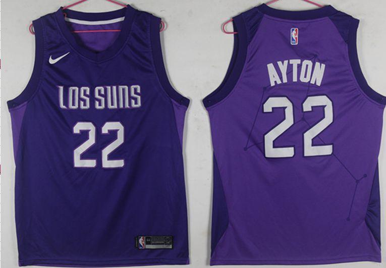 2b2177746757 Men Phoenix Suns 22 Ayton Purple Game Nike NBA Jerseys