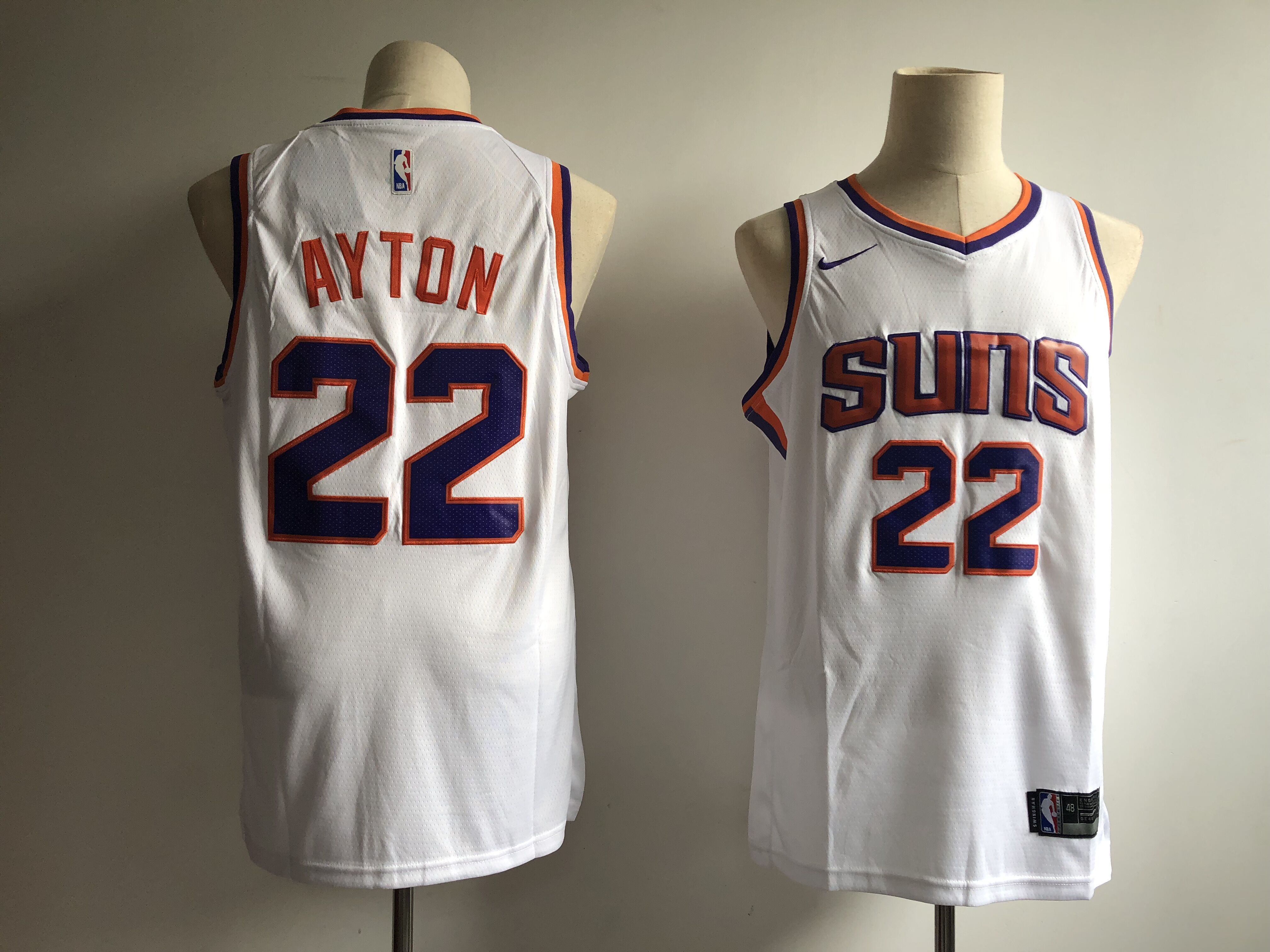 Men Phoenix Suns 22 Ayton white Game Nike NBA Jerseys