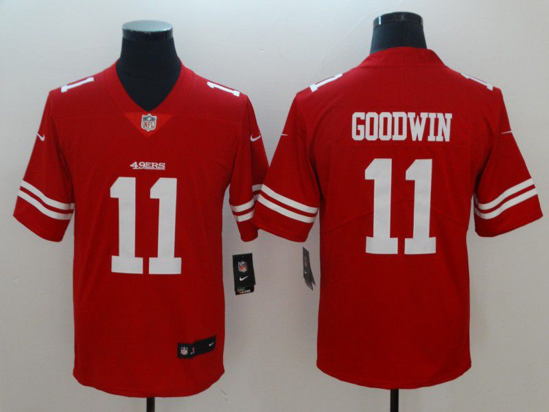 Men San Francisco 49ers 11 Goodwin Red Vapor Untouchable Player Nike Limited NFL Jerseys