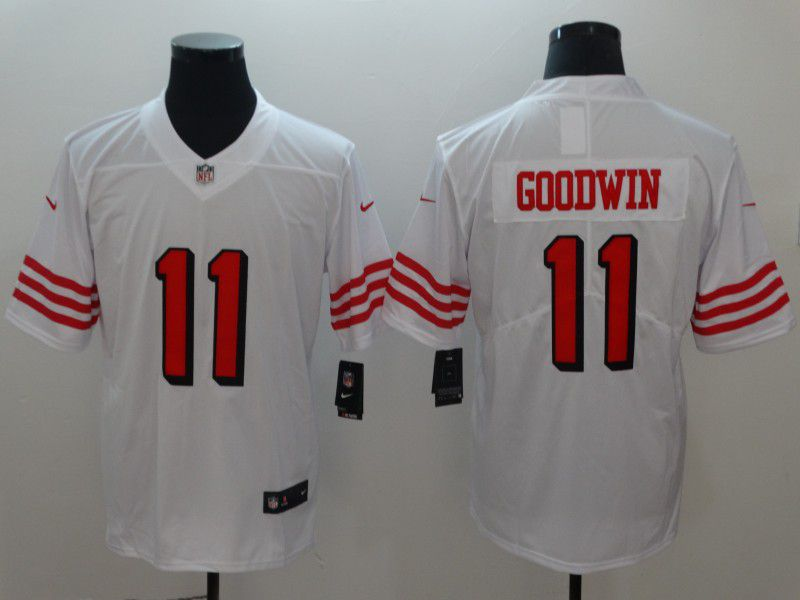 Men San Francisco 49ers 11 Goodwin White Vapor Untouchable Player Nike Limited NFL Jerseys