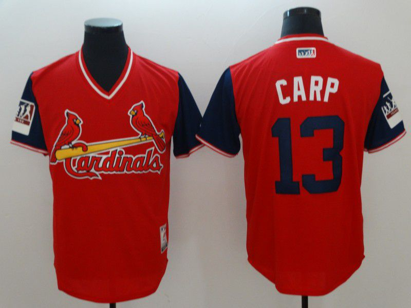 Men St.Louis Cardinals 13 Carp Red New Rush Limited MLB Jerseys