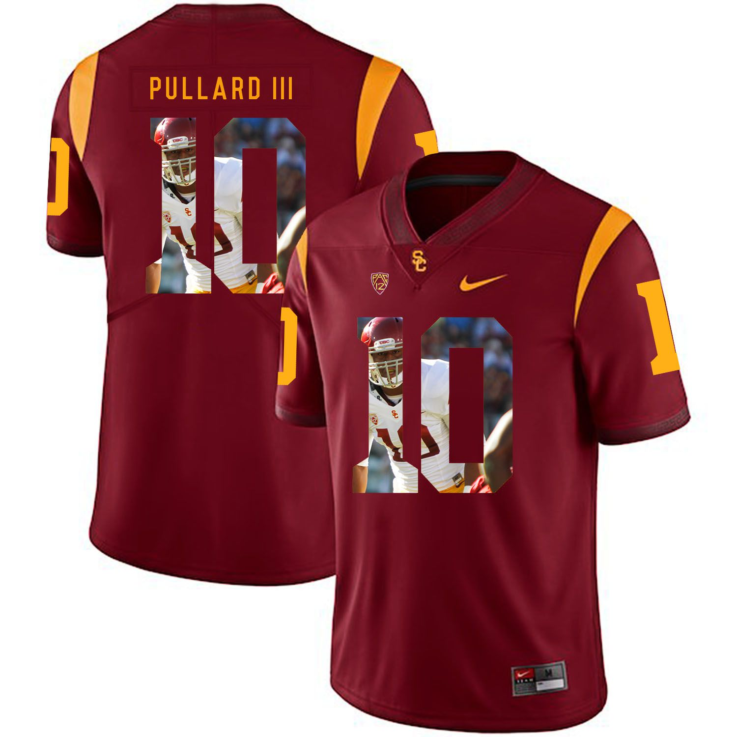 Men USC Trojans 10 Pullard iii Red Fashion Edition Customized NCAA Jerseys