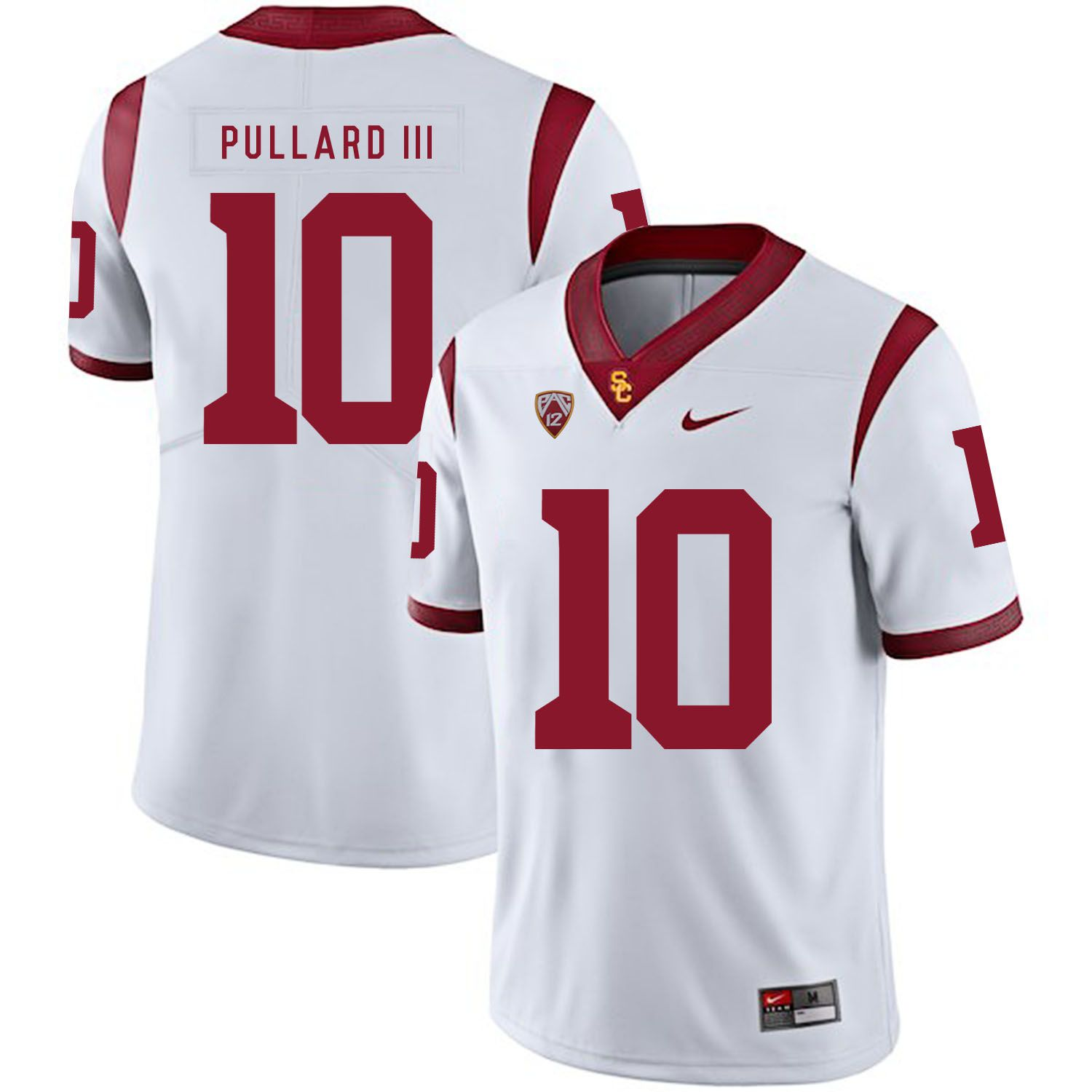Men USC Trojans 10 Pullard iii White Customized NCAA Jerseys