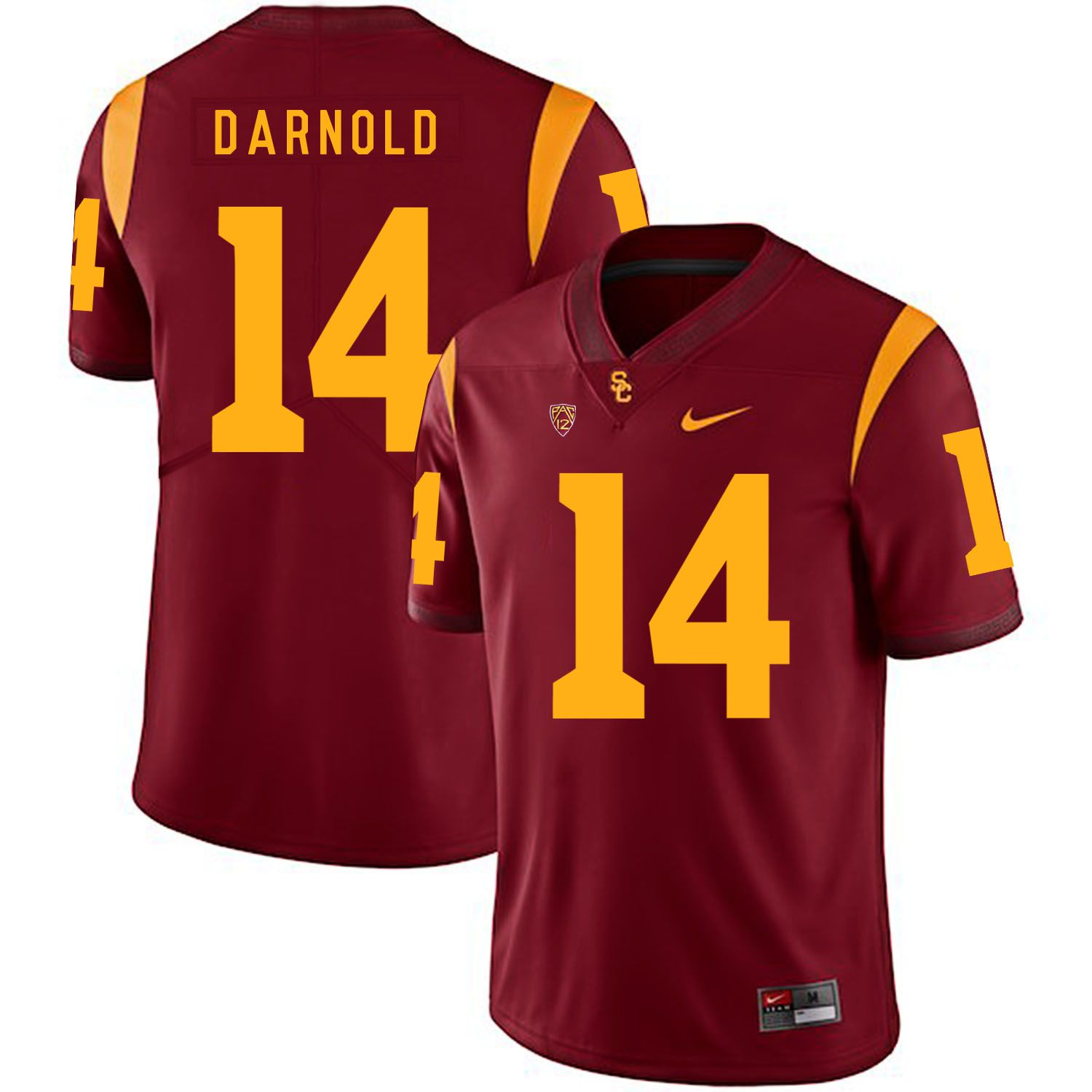 Men USC Trojans 14 Darnold Red Customized NCAA Jerseys