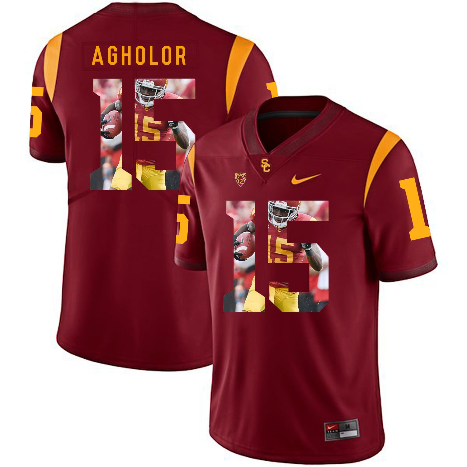 Men USC Trojans 15 Agholor Red Fashion Edition Customized NCAA Jerseys