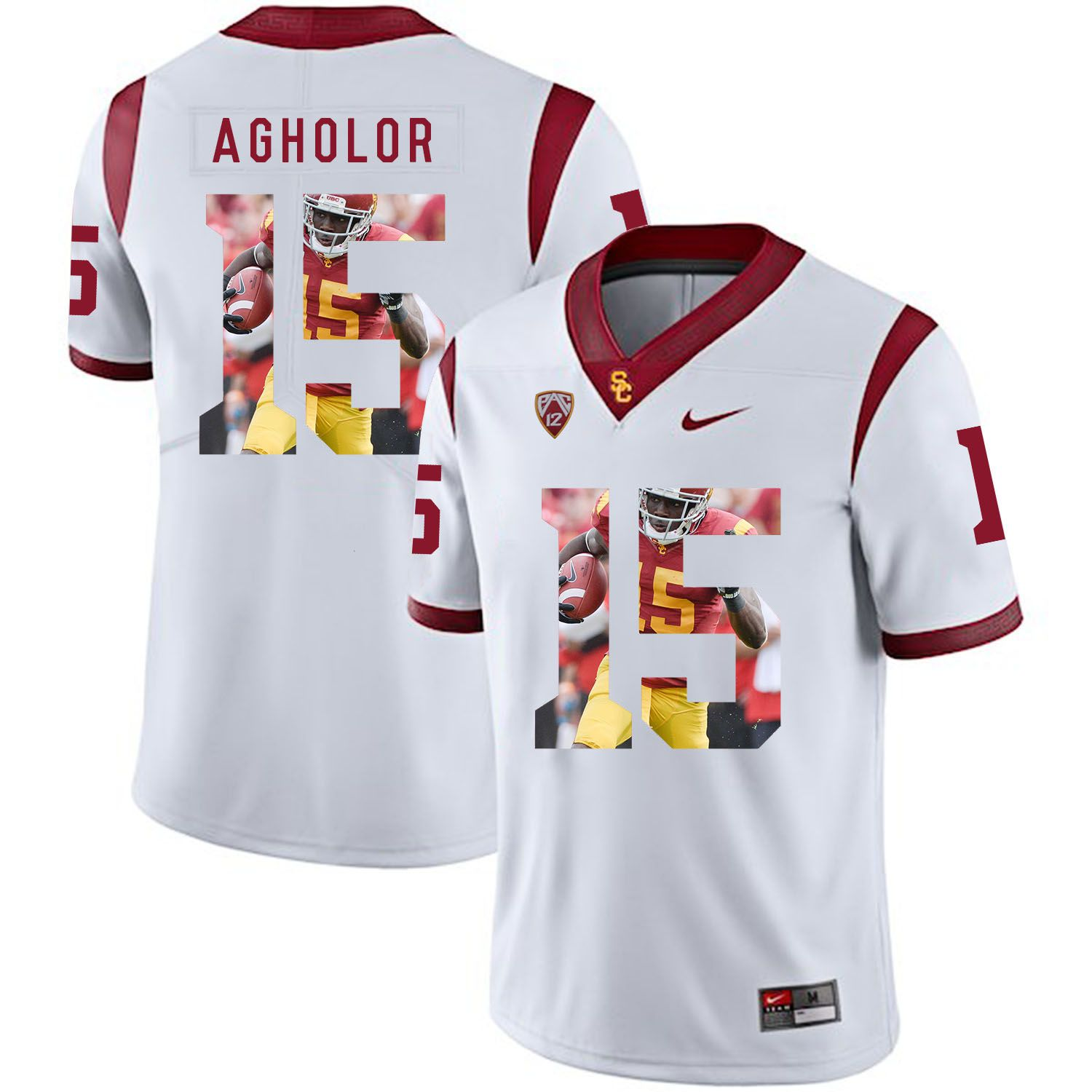 Men USC Trojans 15 Agholor White Fashion Edition Customized NCAA Jerseys