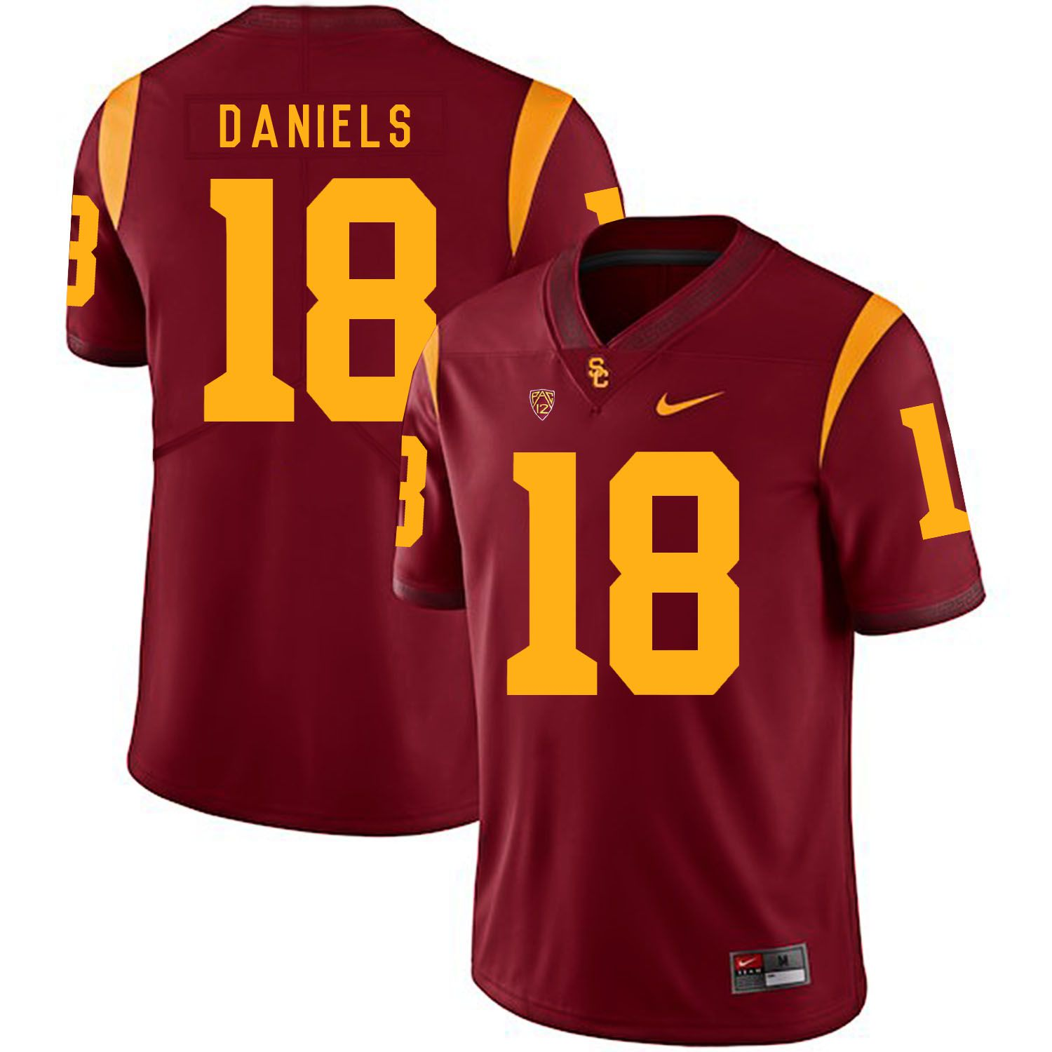 Men USC Trojans 18 Daniels Red Customized NCAA Jerseys