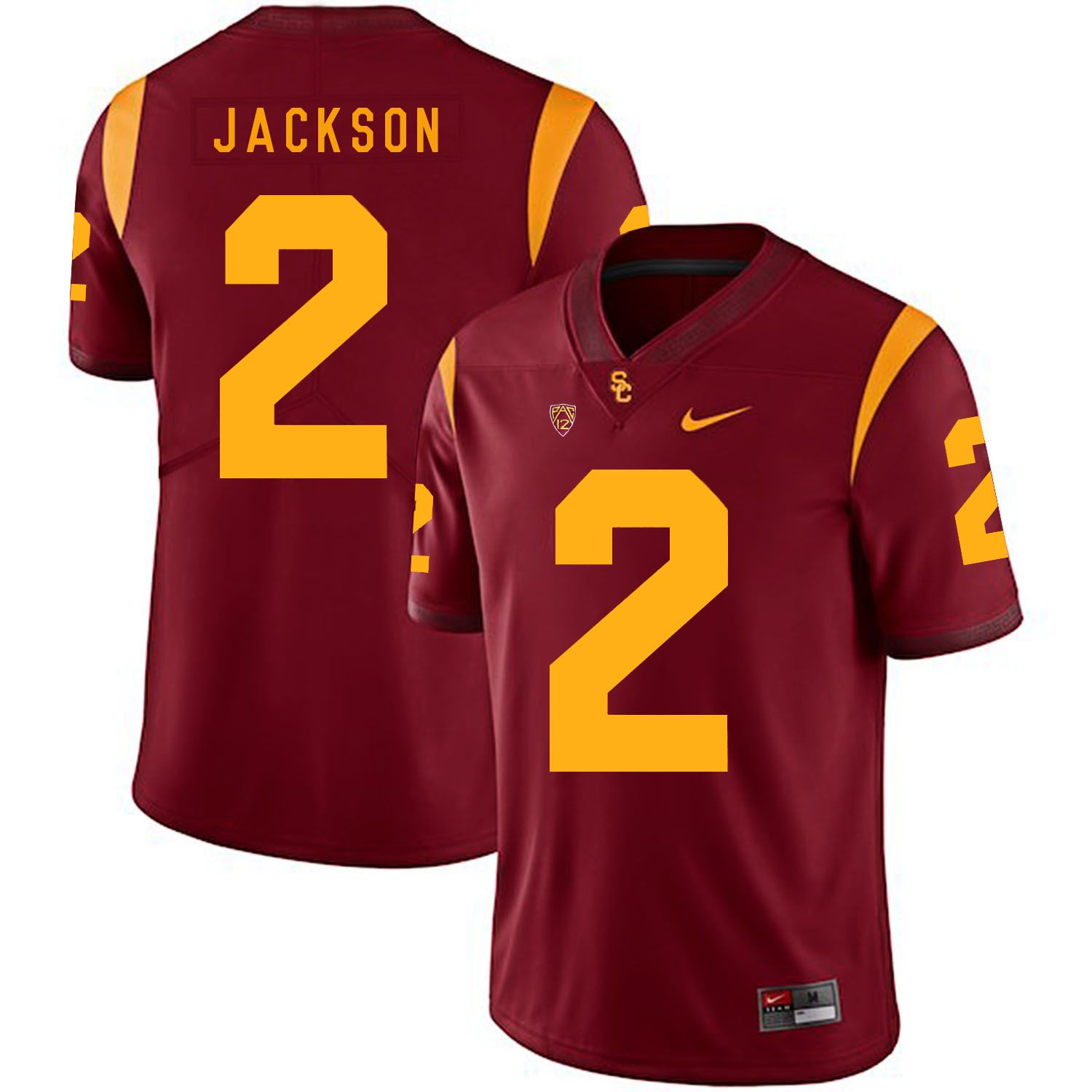 Men USC Trojans 2 Jackson Red Customized NCAA Jerseys