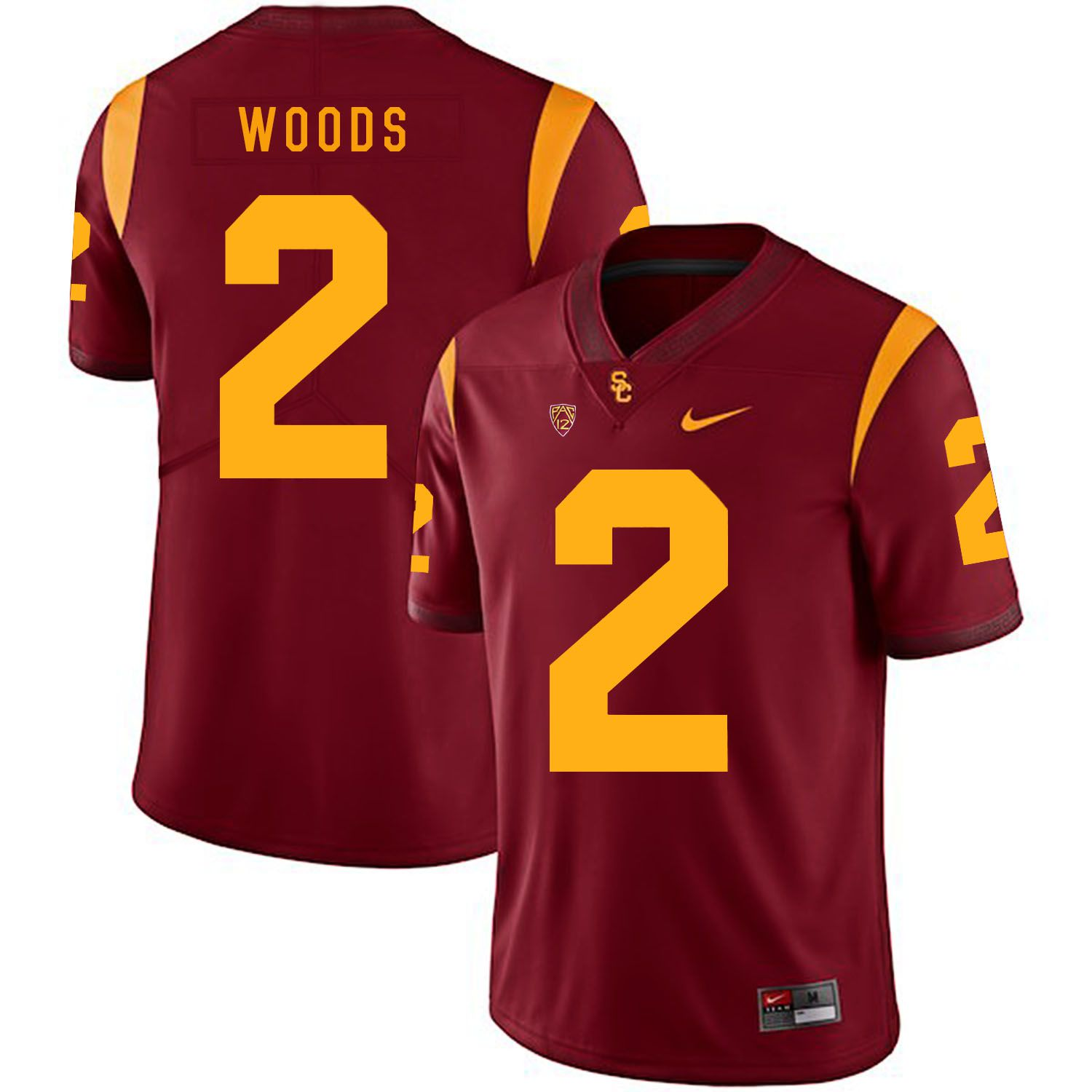 Men USC Trojans 2 Woods Red Customized NCAA Jerseys