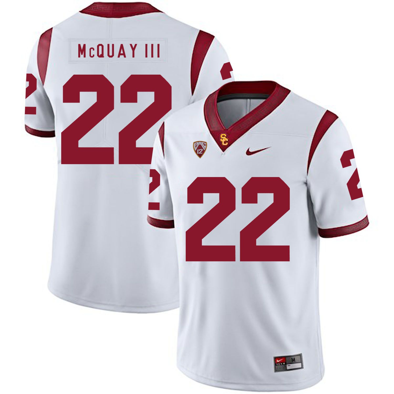Men USC Trojans 22 Mcquay iii White Customized NCAA Jerseys