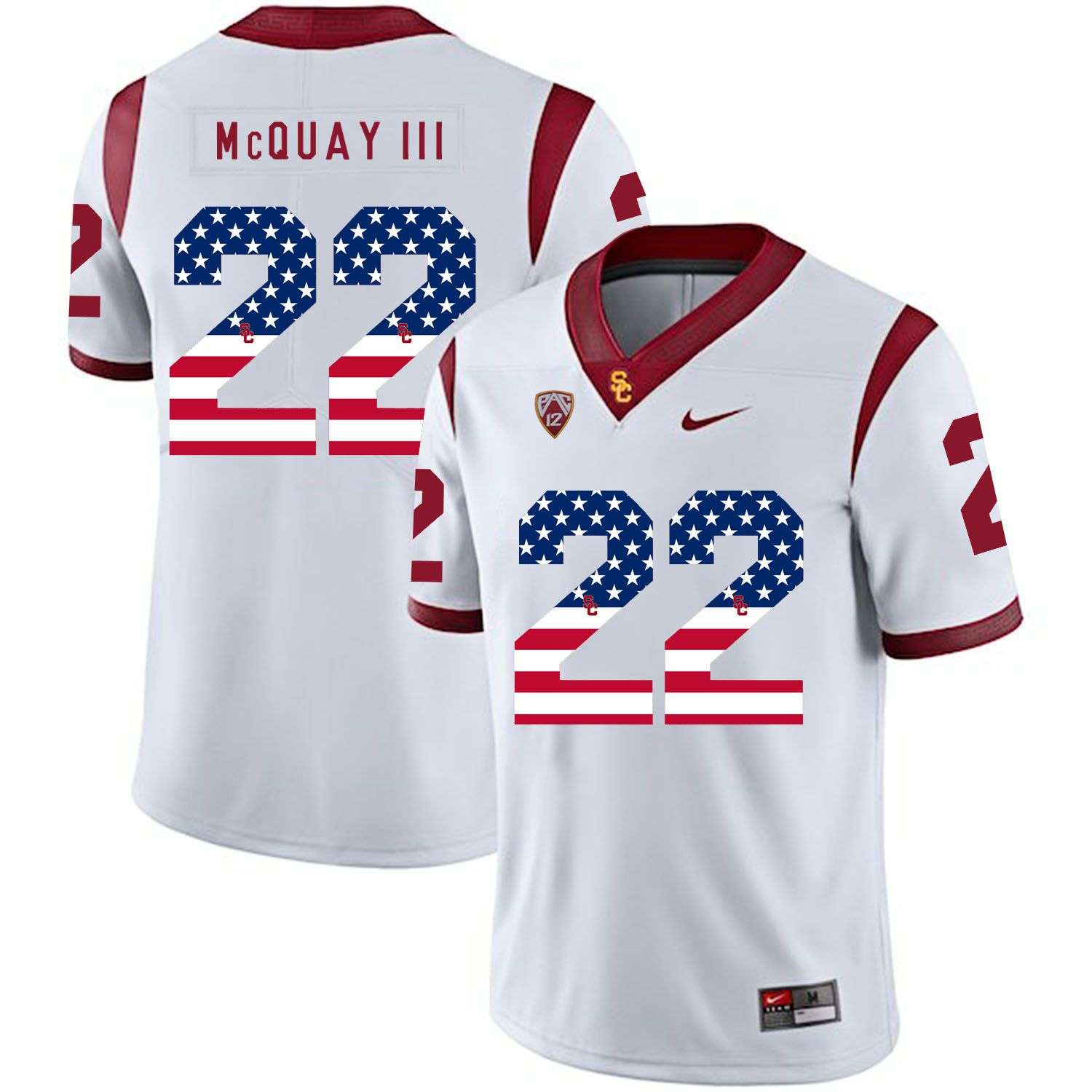 Men USC Trojans 22 Mcquay iii White Flag Customized NCAA Jerseys