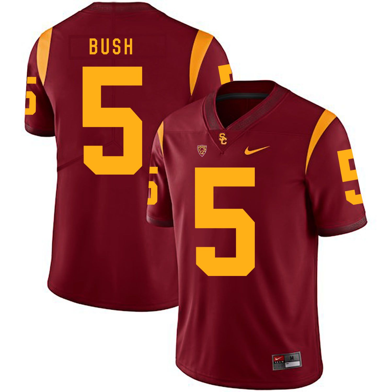 Men USC Trojans 5 Bush Red Customized NCAA Jerseys