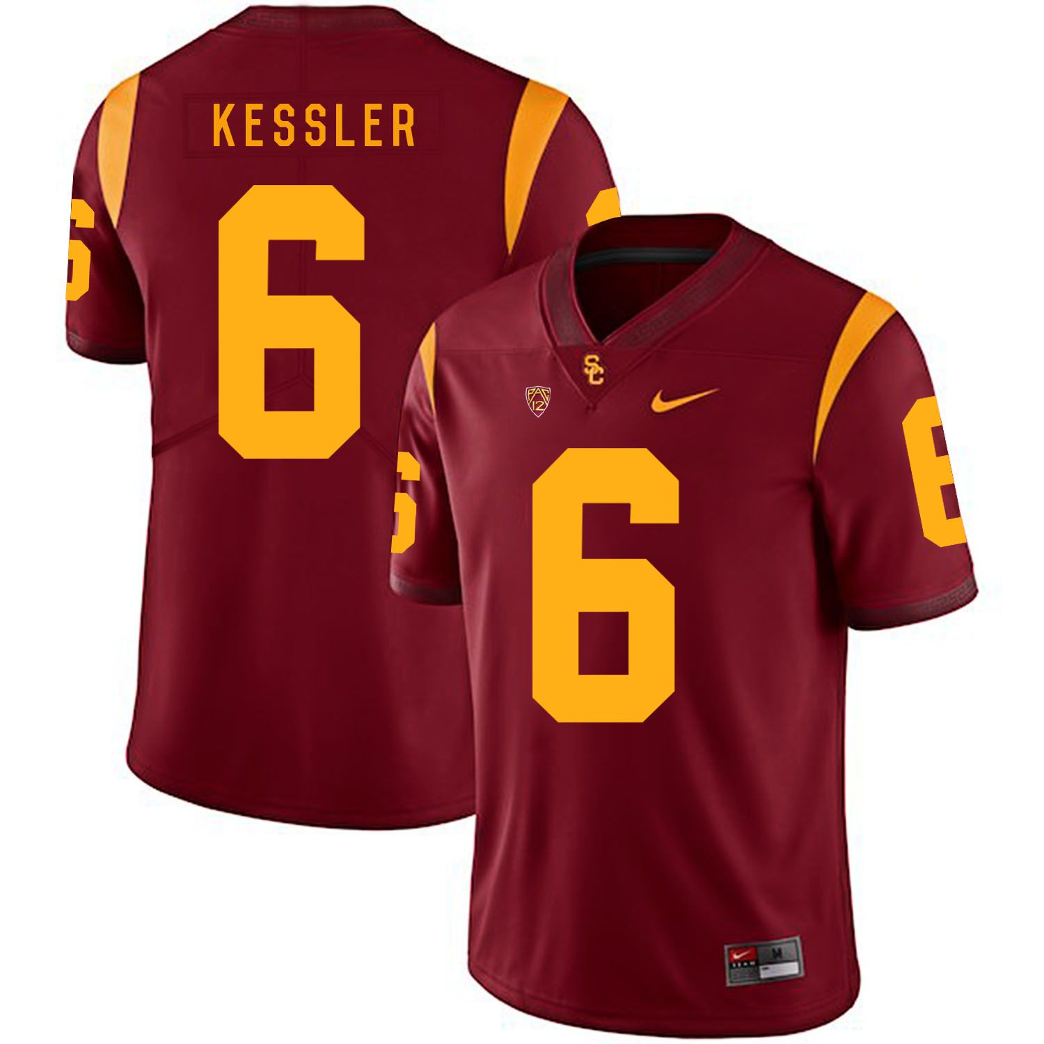 Men USC Trojans 6 Kessler Red Customized NCAA Jerseys