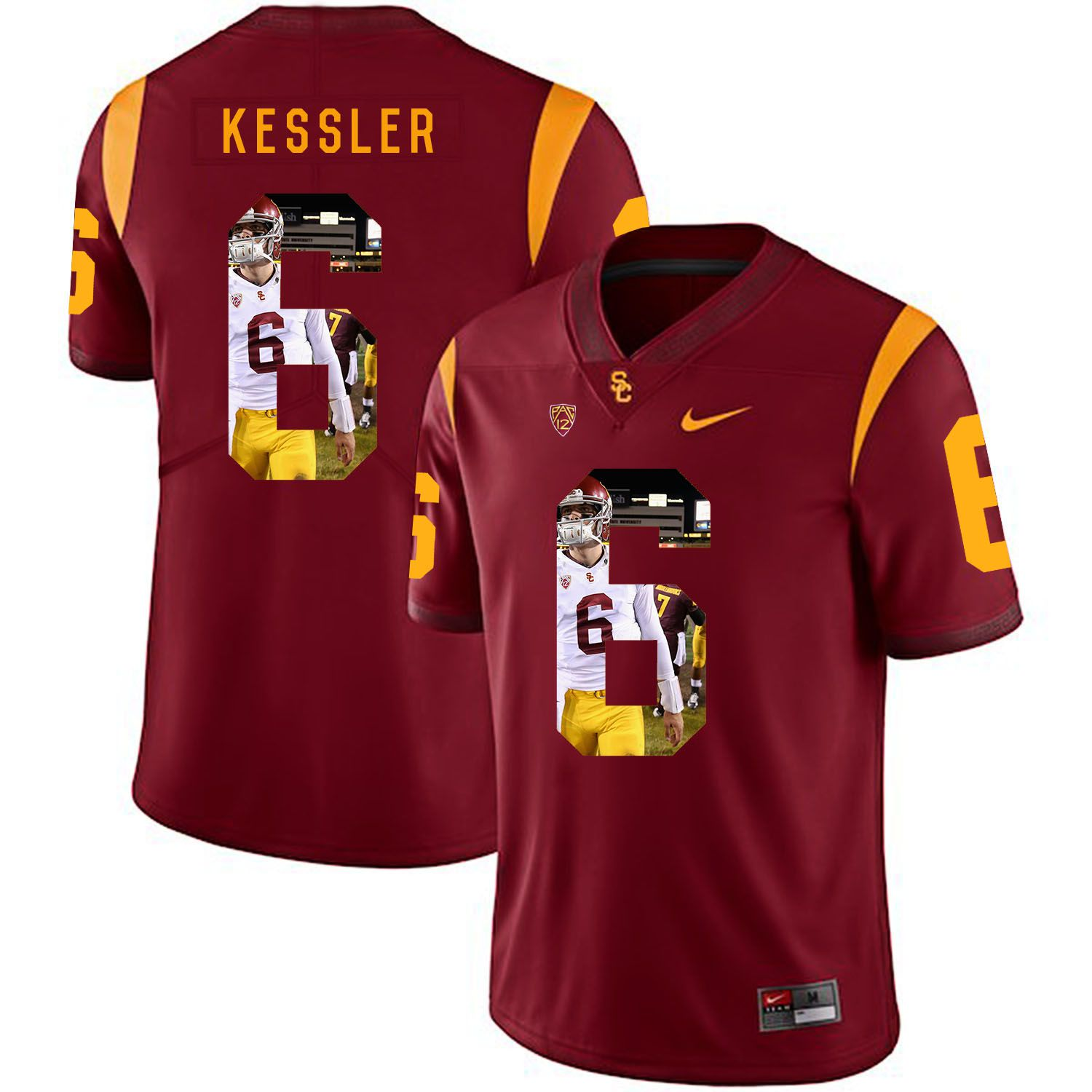 Men USC Trojans 6 Kessler Red Fashion Edition Customized NCAA Jerseys
