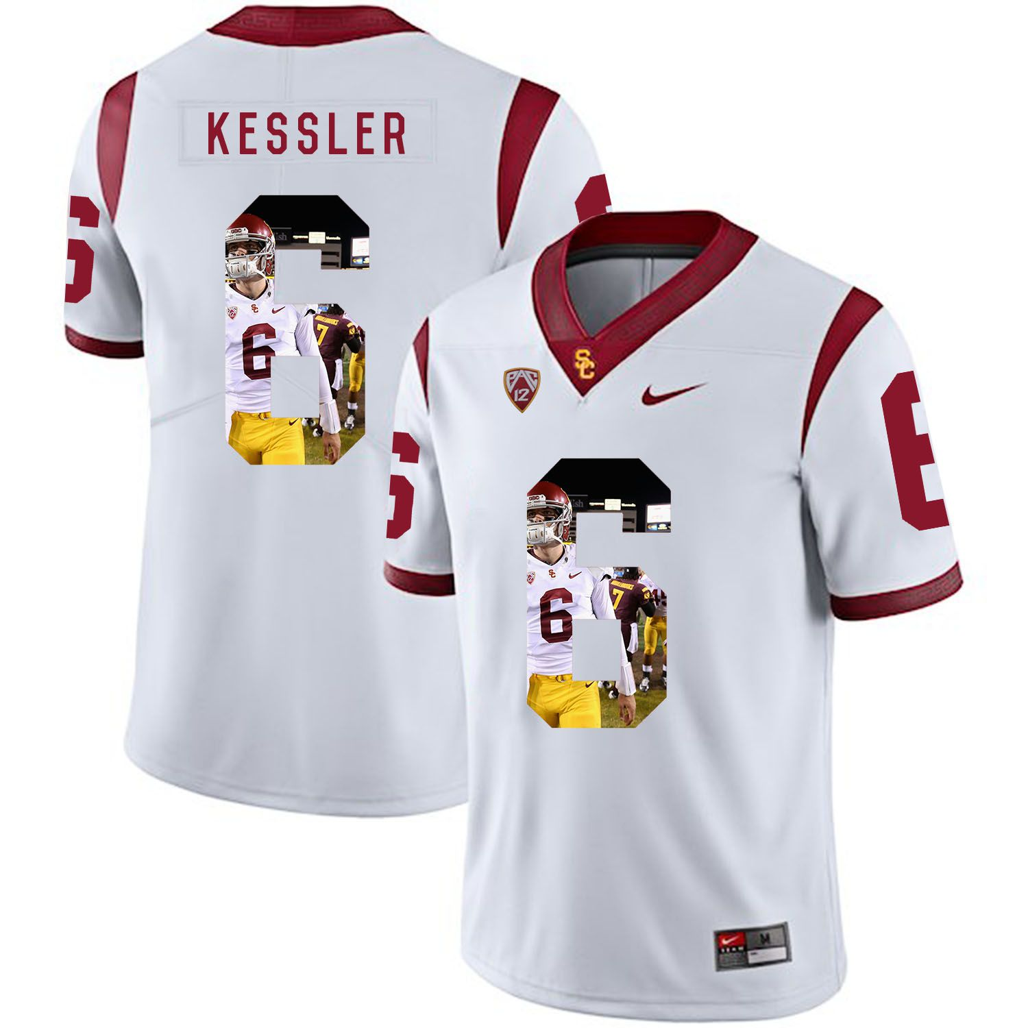 Men USC Trojans 6 Kessler White Fashion Edition Customized NCAA Jerseys