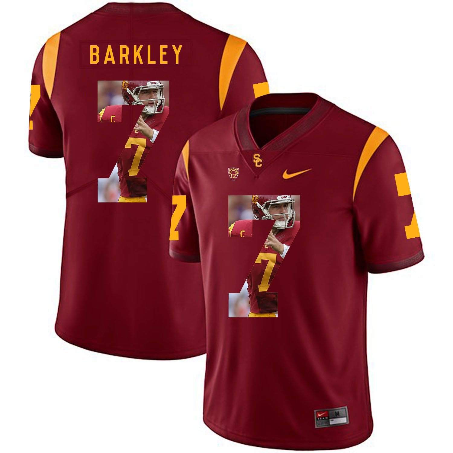 Men USC Trojans 7 Barkley Red Fashion Edition Customized NCAA Jerseys
