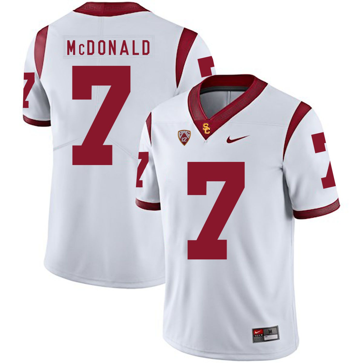 Men USC Trojans 7 Mcdonald White Customized NCAA Jerseys