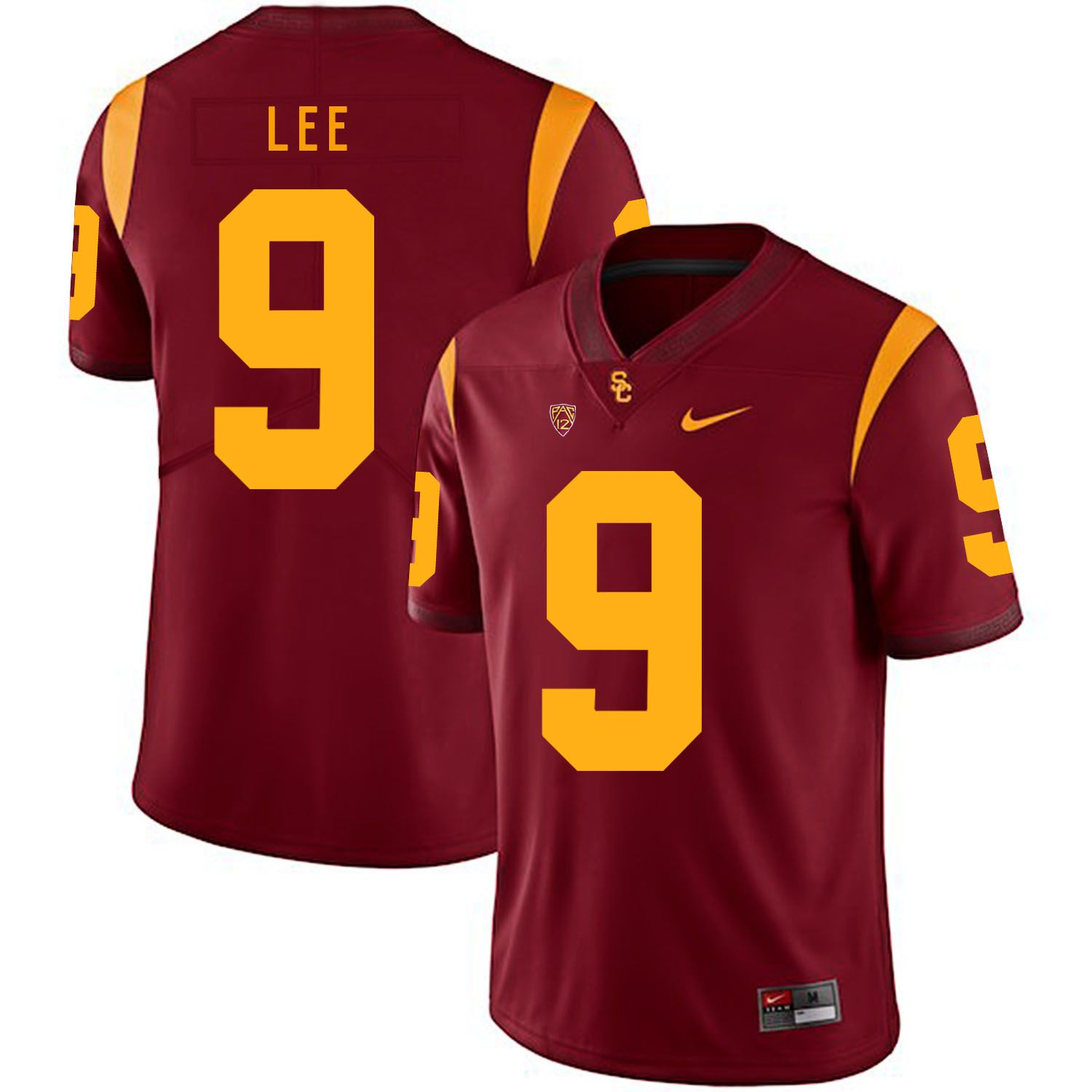 Men USC Trojans 9 Lee Red Customized NCAA Jerseys