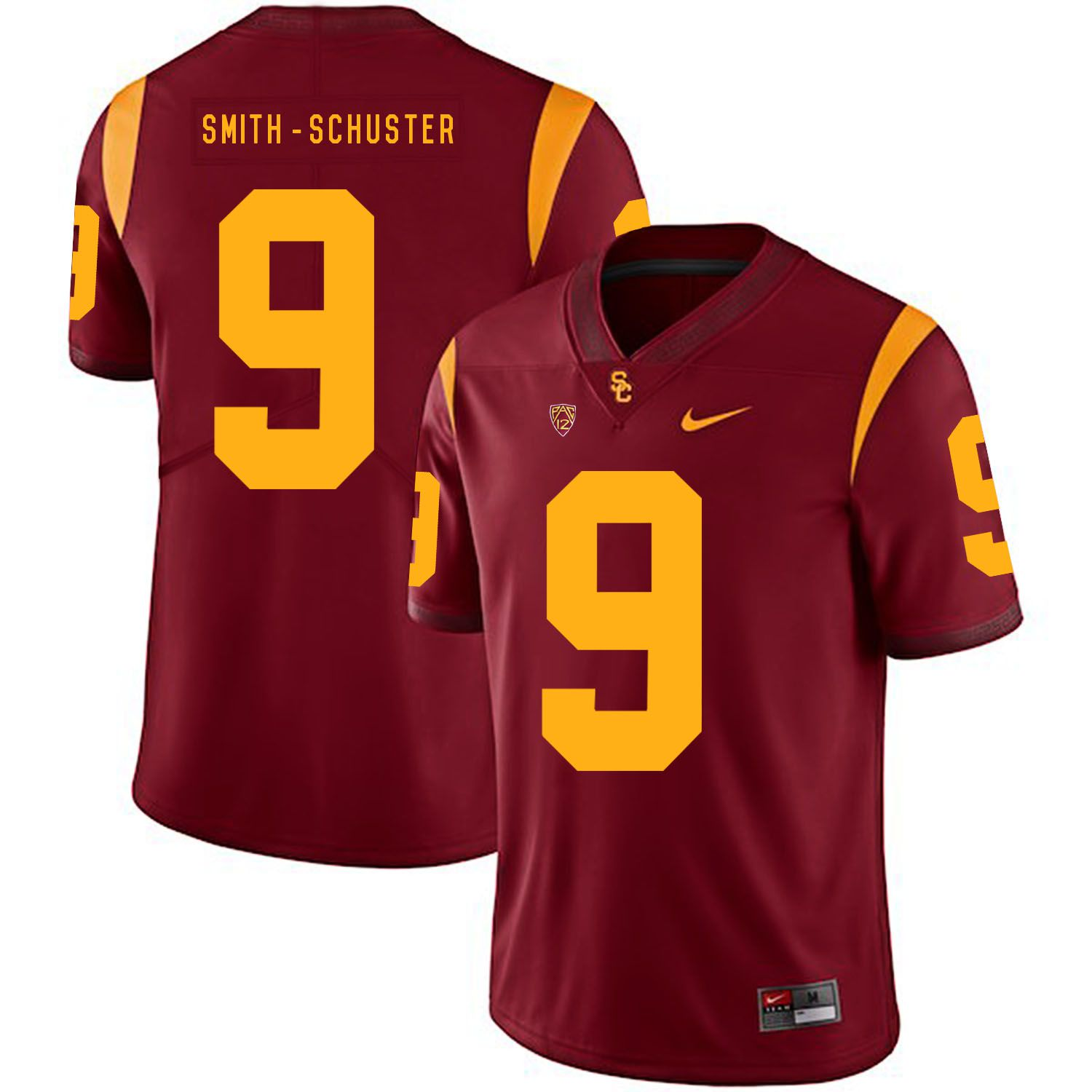 Men USC Trojans 9 Smith-Schuster Red Customized NCAA Jerseys