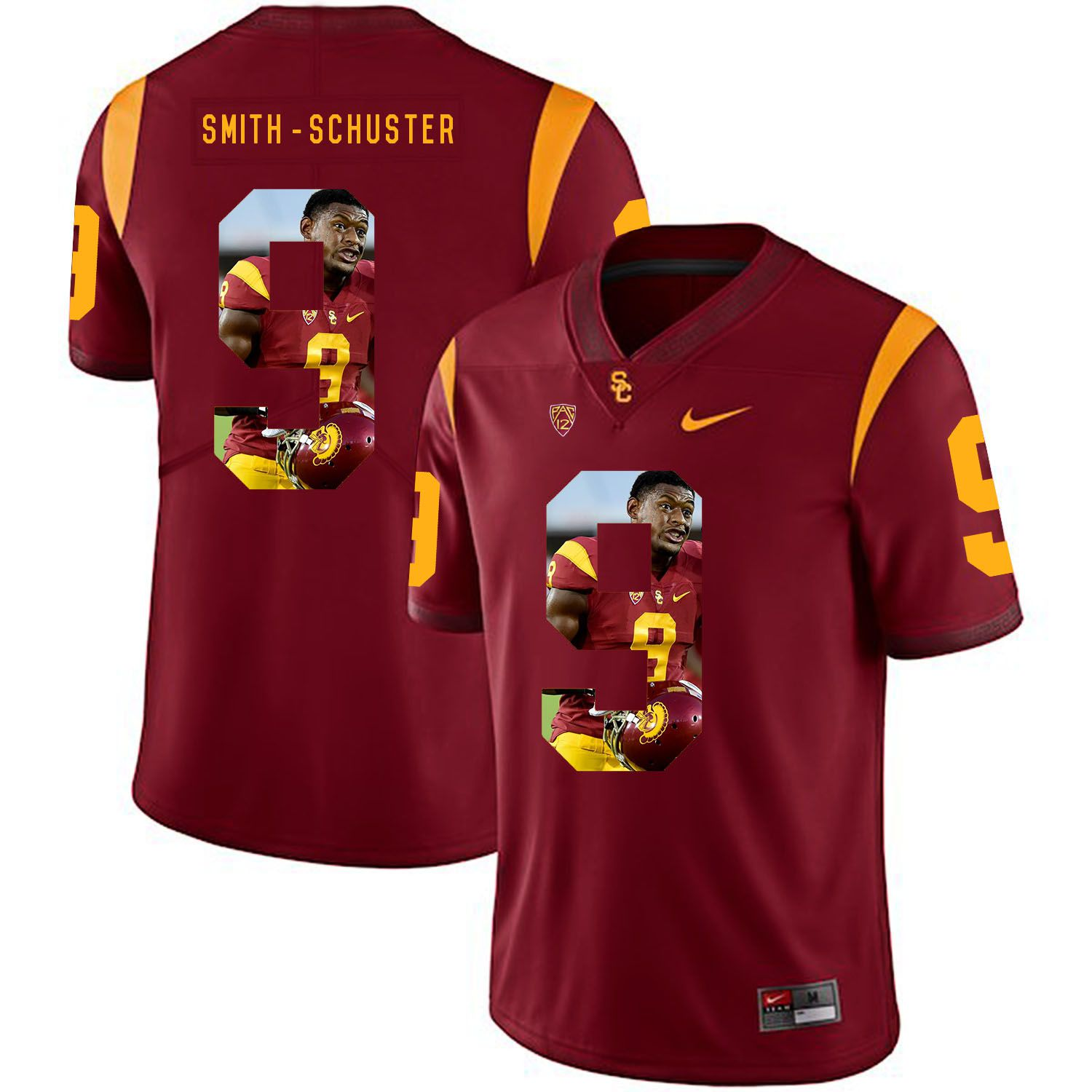 Men USC Trojans 9 Smith-Schuster Red Fashion Edition Customized NCAA Jerseys