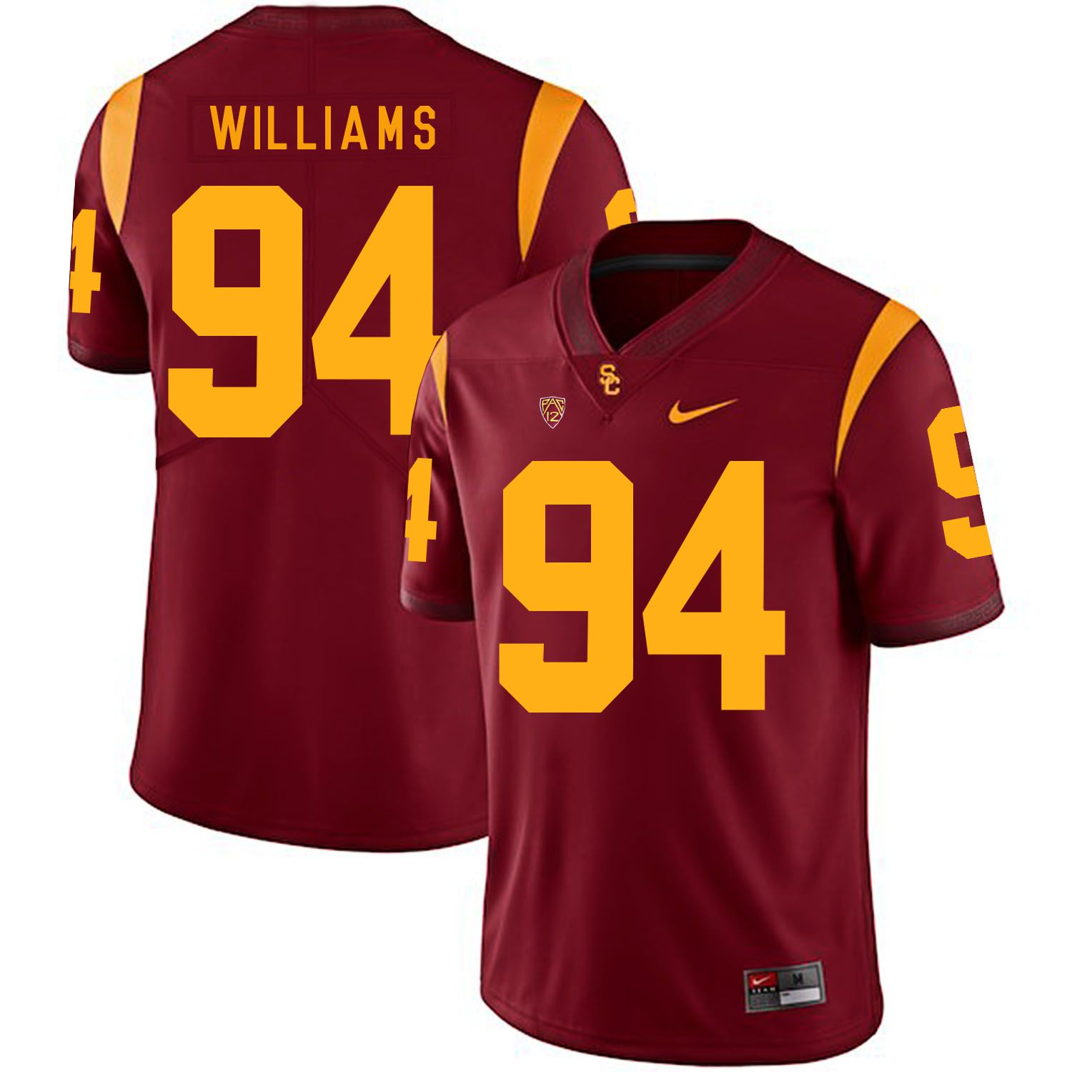 Men USC Trojans 94 Williams Red Customized NCAA Jerseys