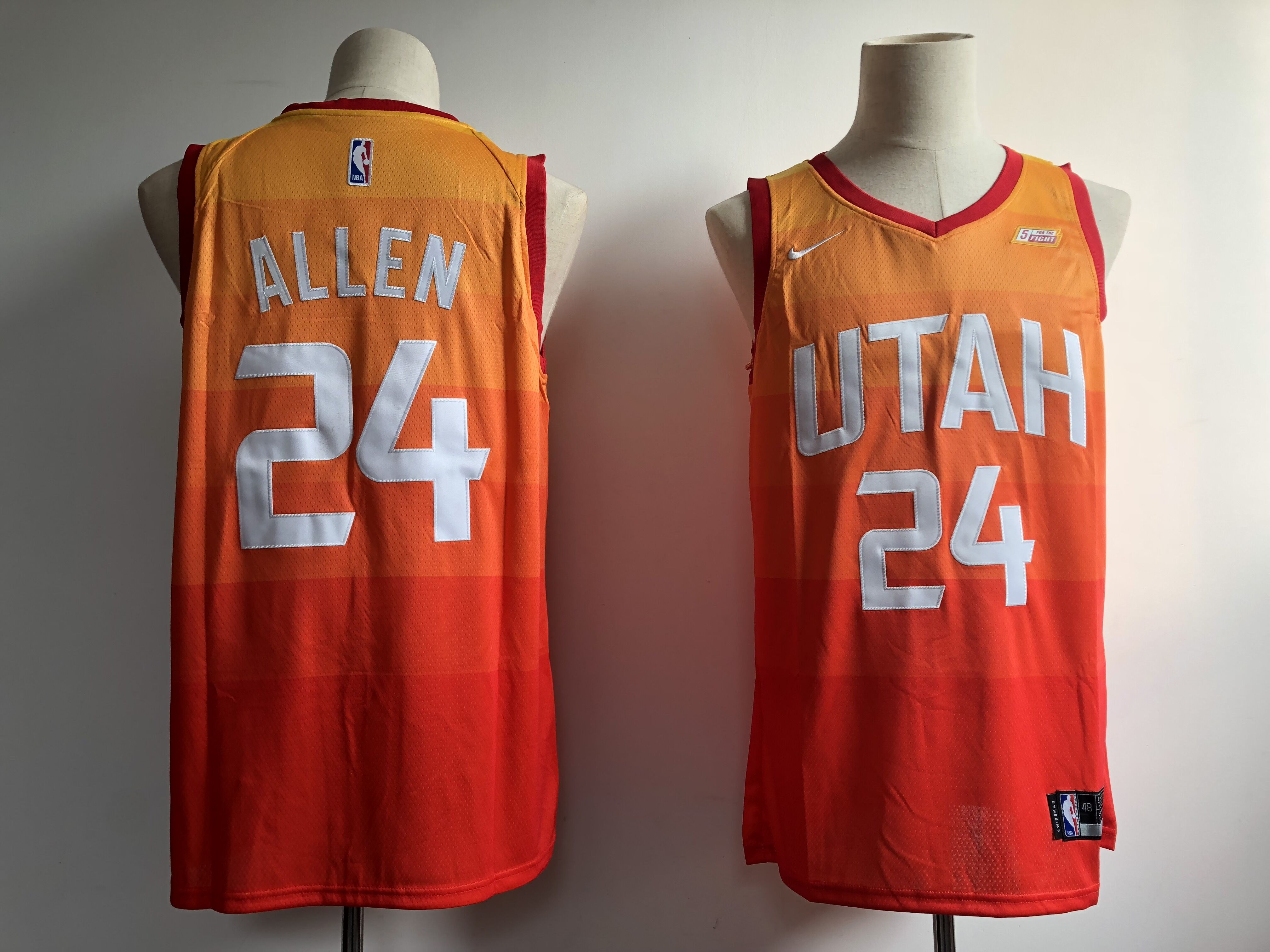 Men Utah Jazz 24 Allen Orange City Edition Game Nike NBA Jerseys