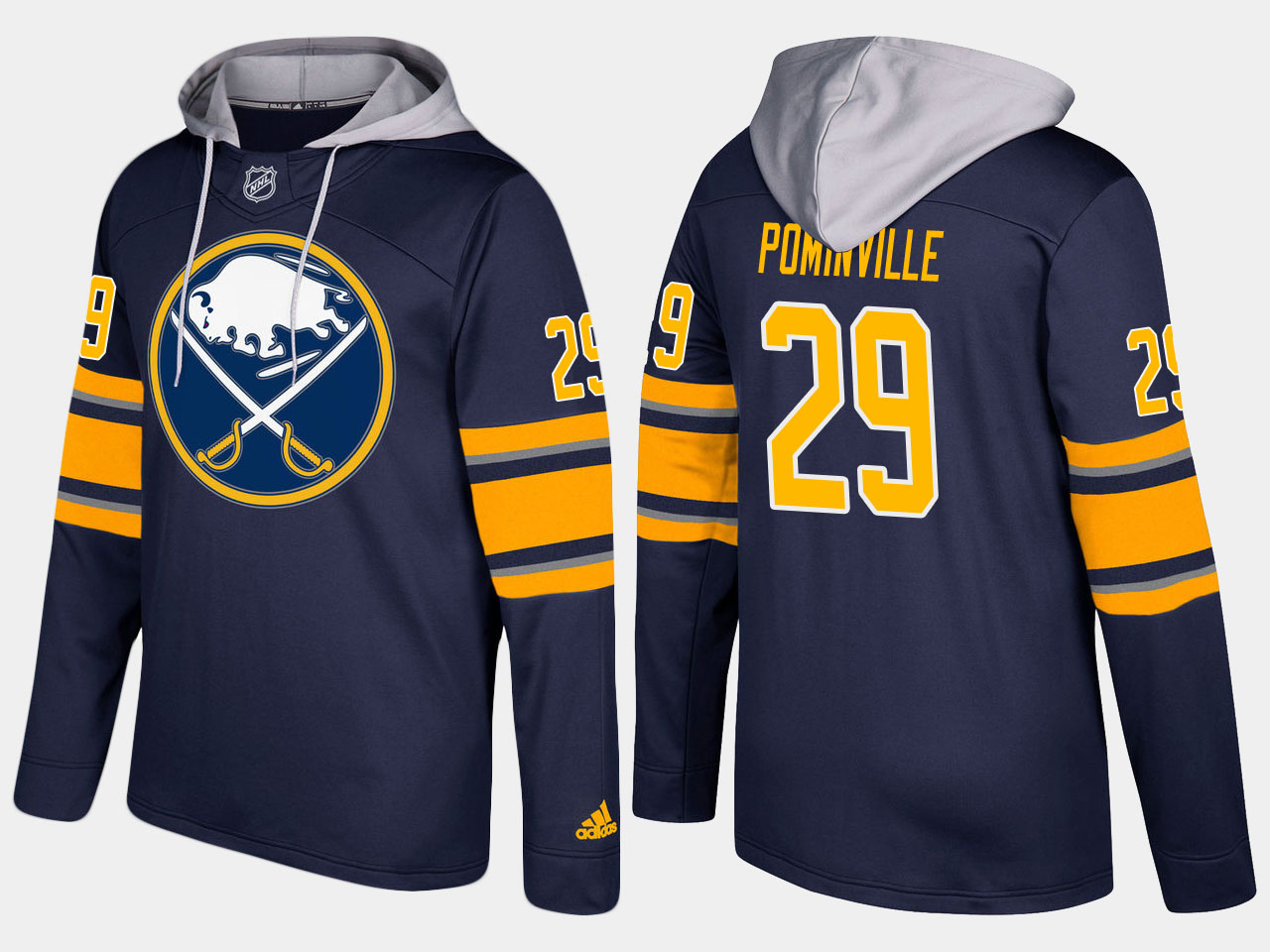 NHL Men Buffalo sabres 29 jason pominville blue hoodie