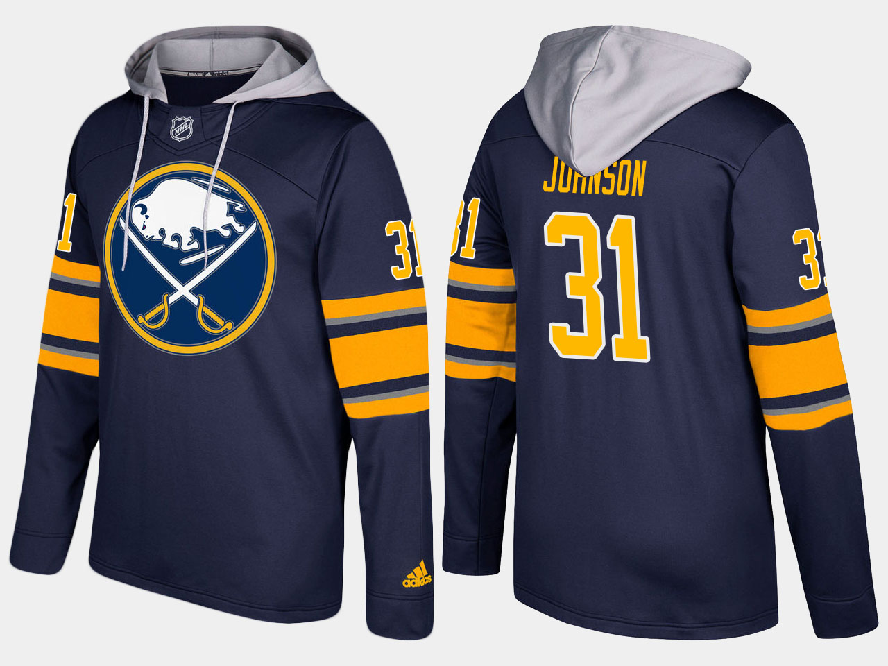 NHL Men Buffalo sabres 31 chad johnson blue hoodie