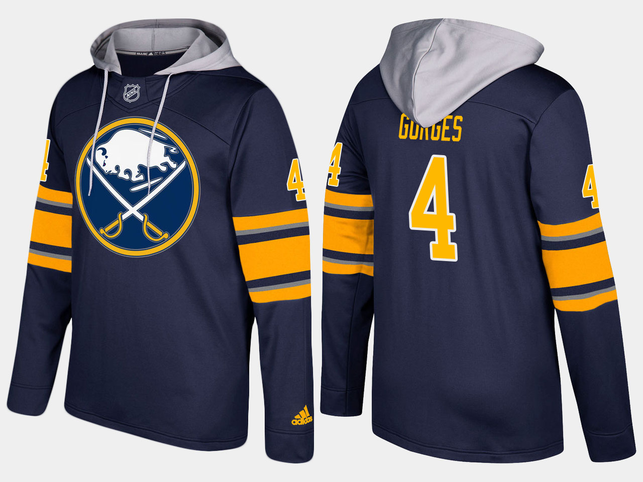 NHL Men Buffalo sabres 4 josh gorges blue hoodie