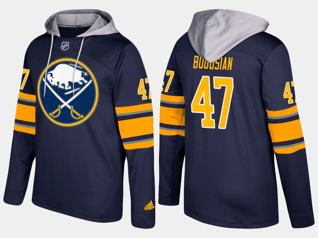 NHL Men Buffalo sabres 47 zach bogosian blue hoodie