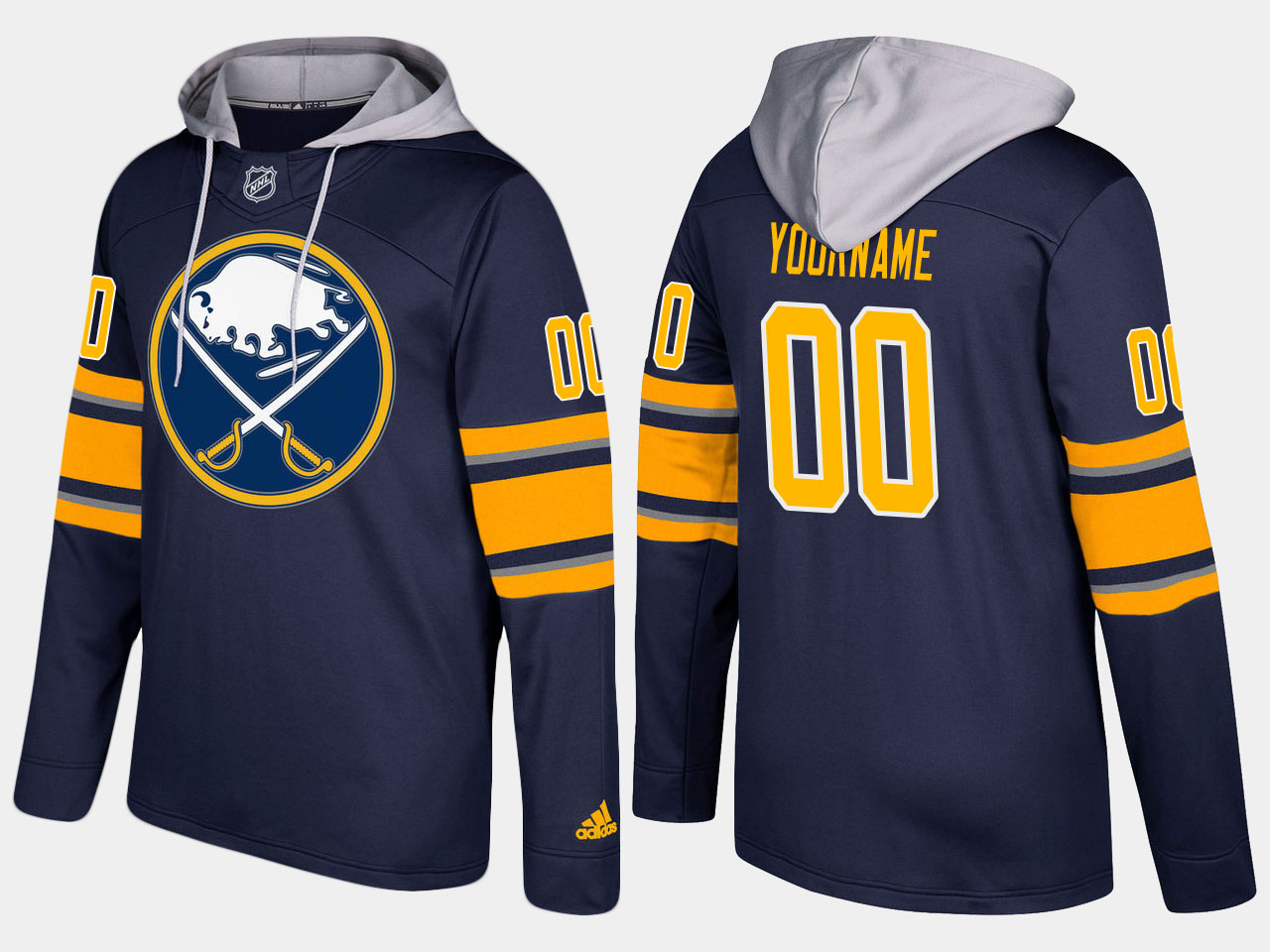 NHL Men Buffalo sabres customized blue hoodie