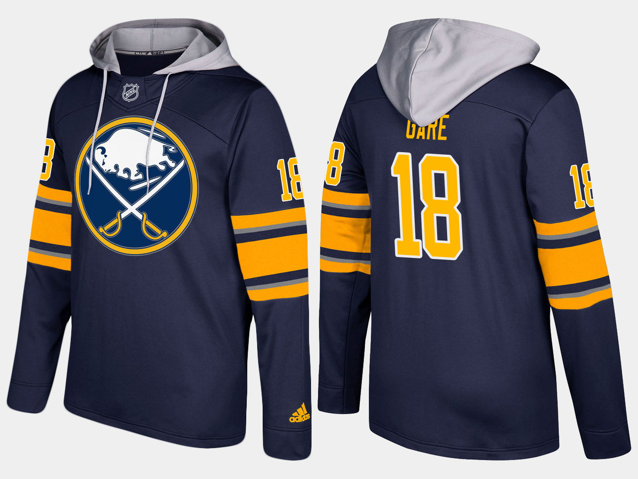 NHL Men Buffalo sabres retired 18 danny gare blue hoodie