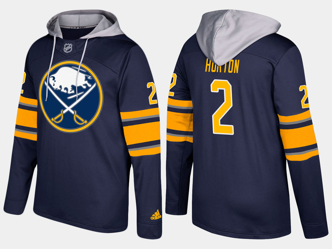 NHL Men Buffalo sabres retired 2 tim horton blue hoodie