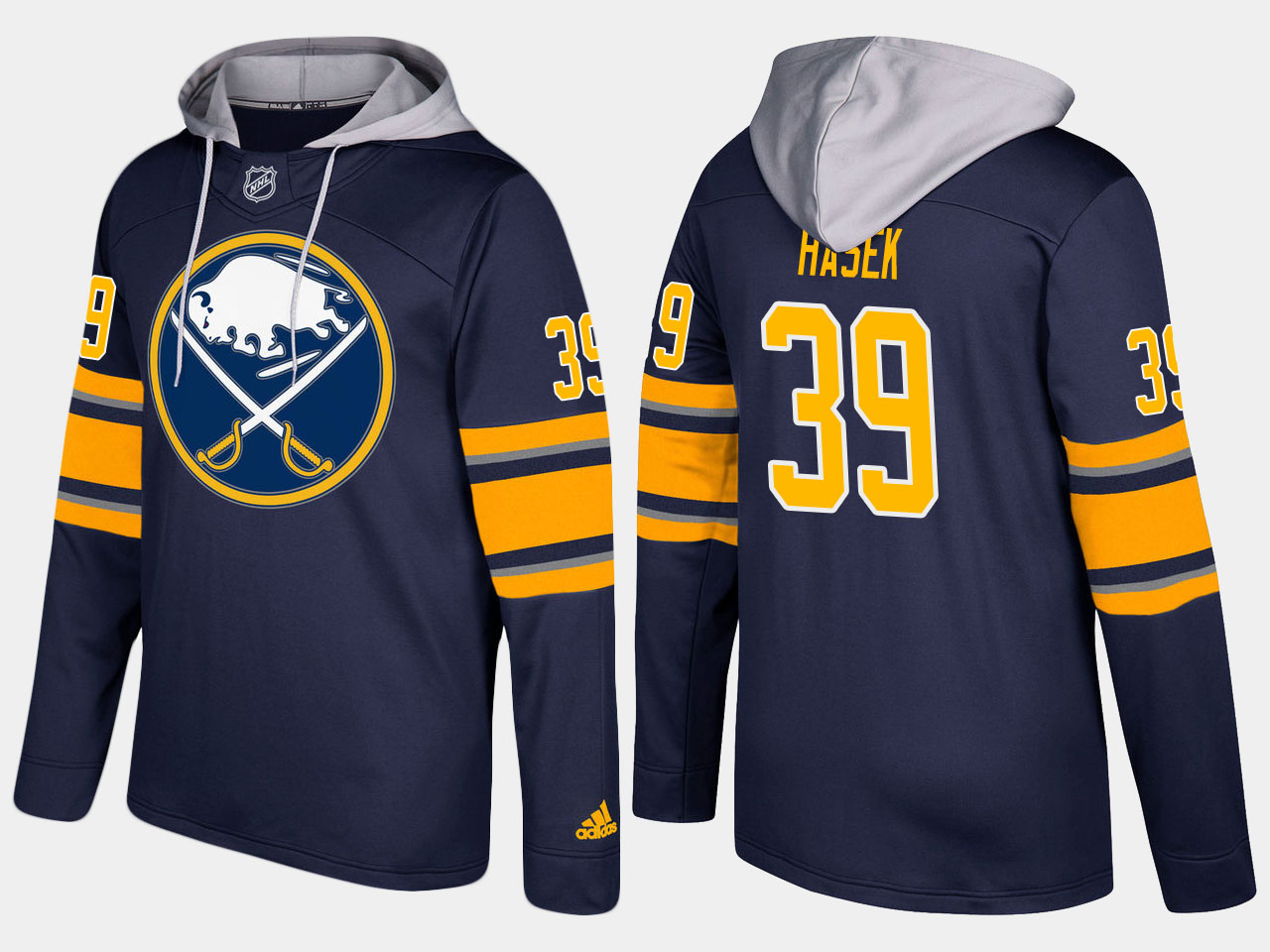 NHL Men Buffalo sabres retired 39 dominik hasek blue hoodie