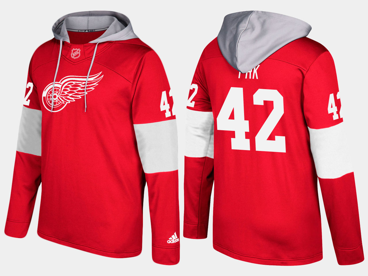 NHL Men Detroit red wings 42 martin frk red hoodie
