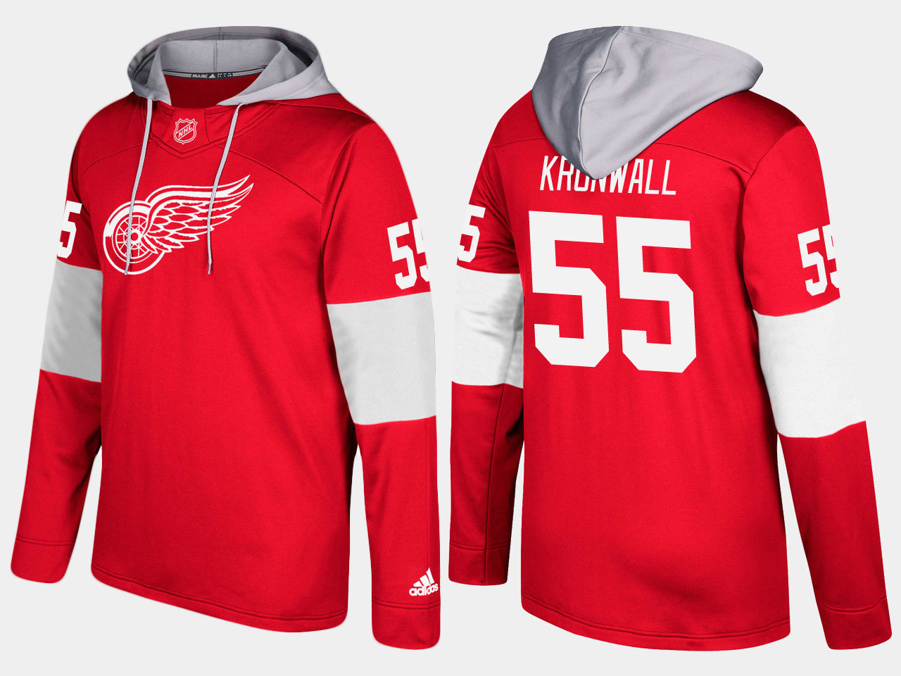NHL Men Detroit red wings niklas kronwall red hoodie