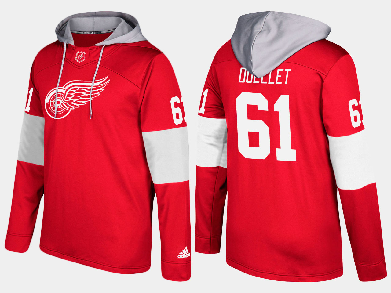 NHL Men Detroit red wings xavier ouellet red hoodie