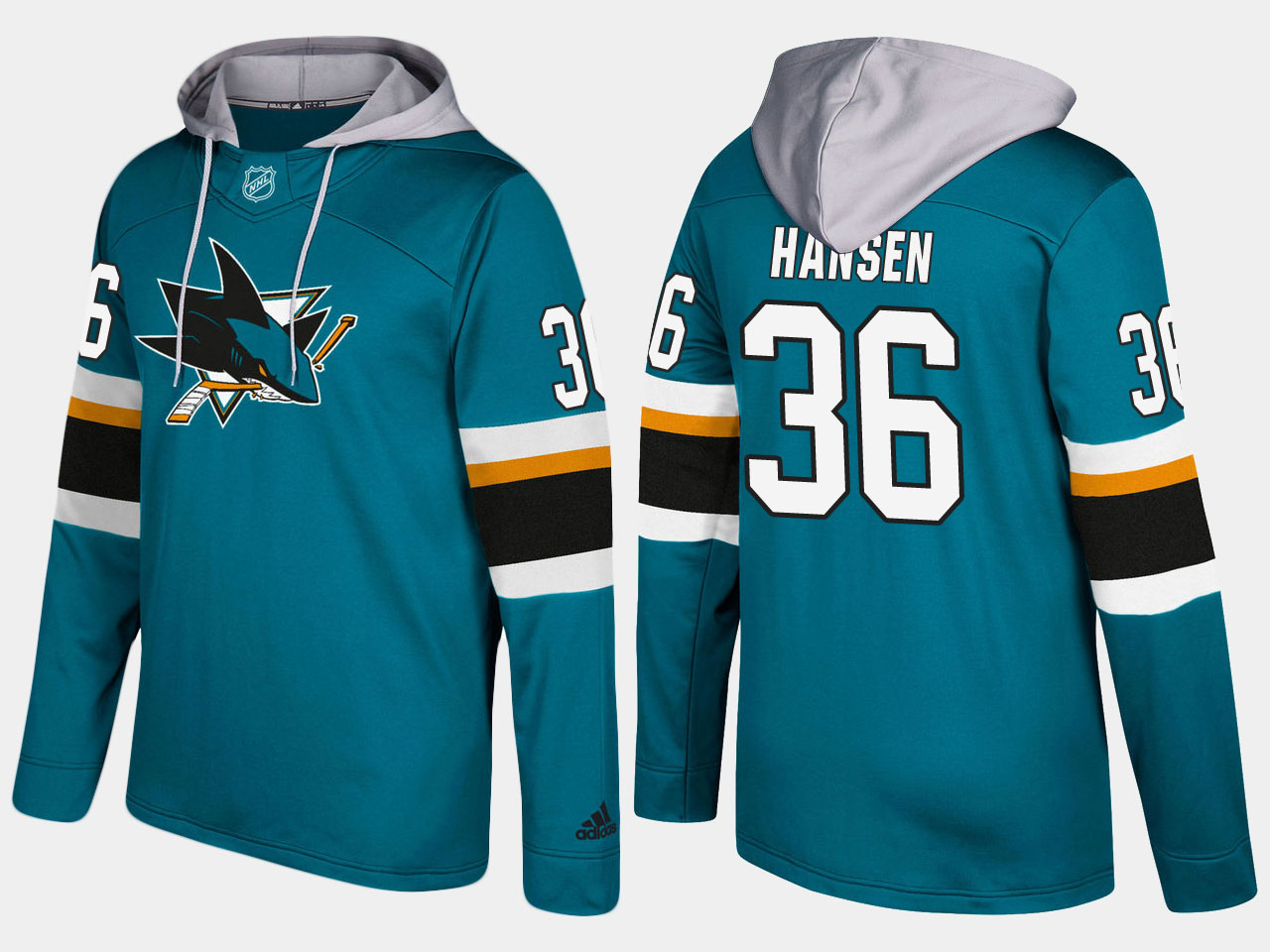 NHL Men San Jose sharks 36 jannik hansen blue hoodie