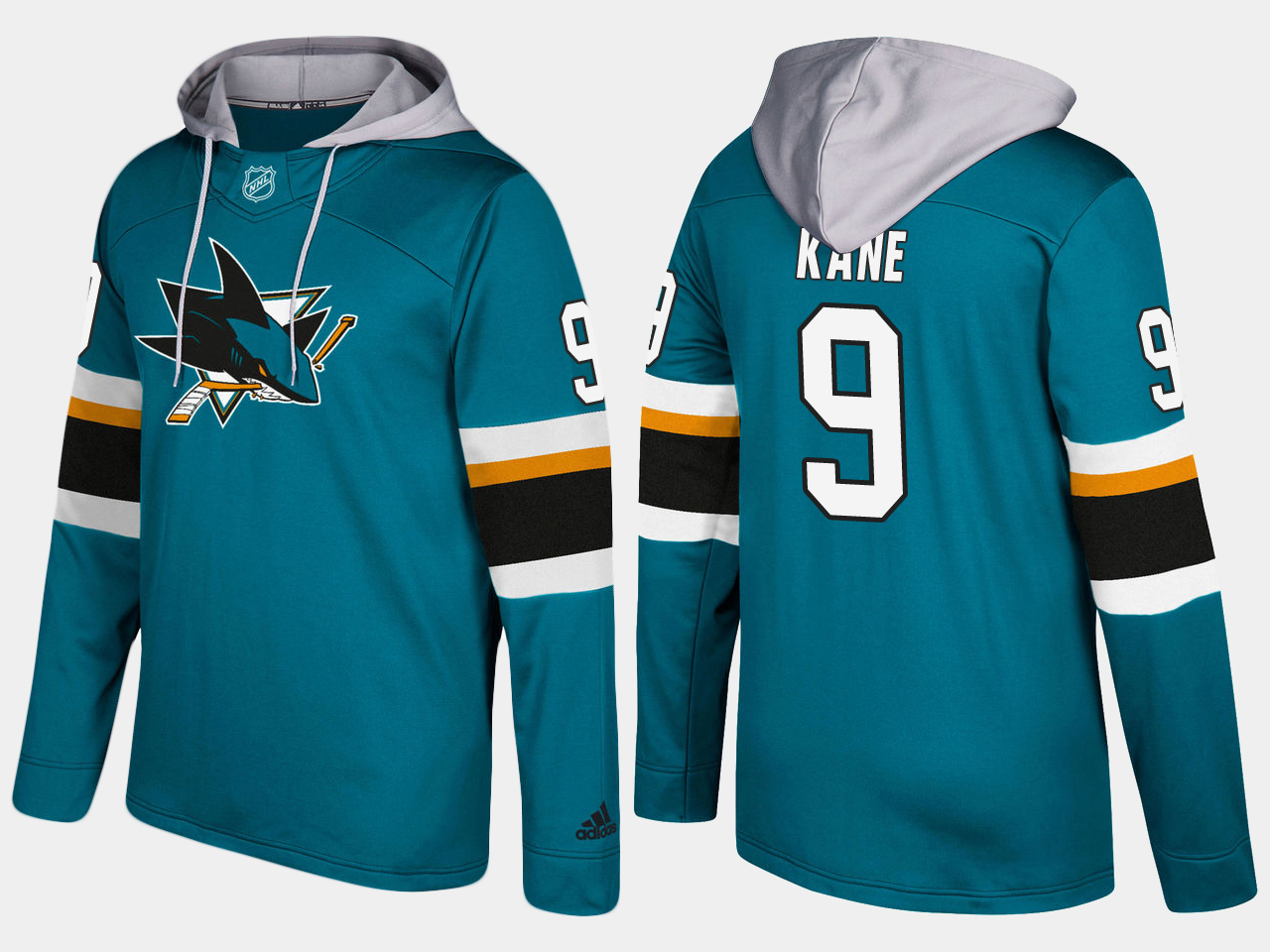 NHL Men San Jose sharks 9 evander kane blue hoodie