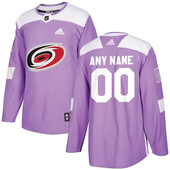 NHL Men adidas Carolina Hurricanes purple customized jerseys