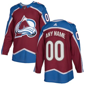 NHL Men adidas Colorado Avalanche red Authentic Customized Jersey