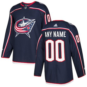 NHL Men adidas Columbus Blue Jackets Navy blue Authentic Customized Jersey