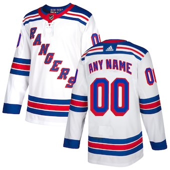 NHL Men adidas New York Rangers White Authentic Customized Jersey