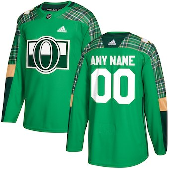 NHL Men adidas Ottawa Senators Green Customized Practice Jersey