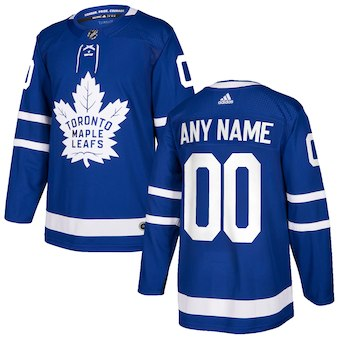 NHL Men adidas Toronto Maple Leafs Blue Authentic Custom Jersey