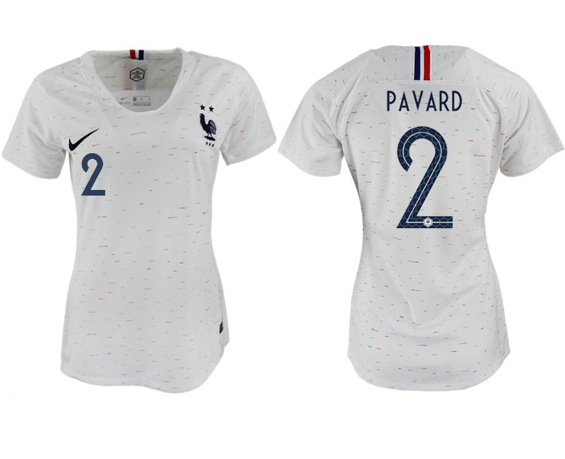 Women 2018 World Cup French away aaa version 2 white soccer jerseys
