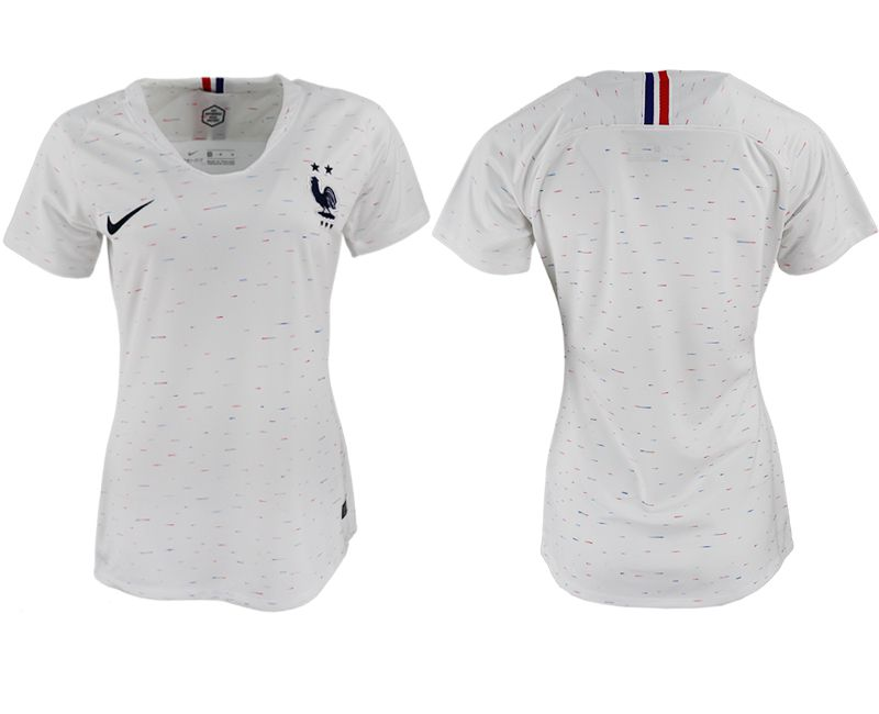 Women 2018 World Cup French away aaa version white soccer jerseys